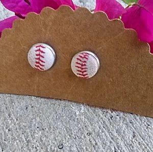 Handmade Baseball Earrings